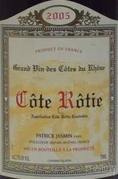 Domaine Patrick Jasmin, Cote Rotie ,la Giroflarie 2016 750ml/嘉思蒙罗第丘 吉罗妃丽红葡萄酒 北京宝格丽酒店用酒