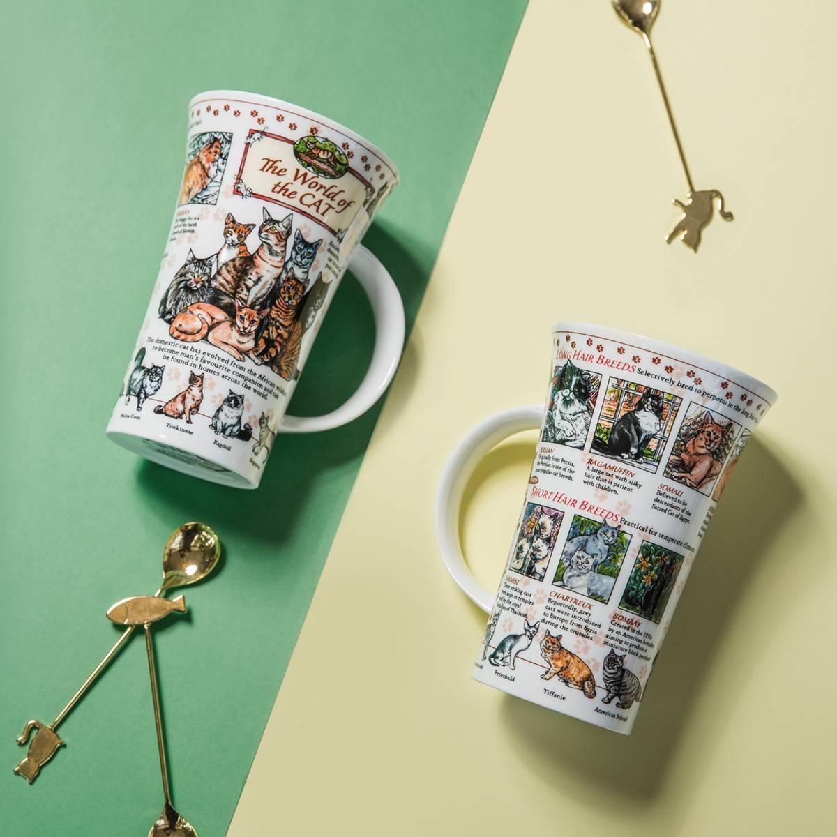 英国DUNOON丹侬峡谷型骨瓷茶杯水杯骨瓷马克杯猫的世界