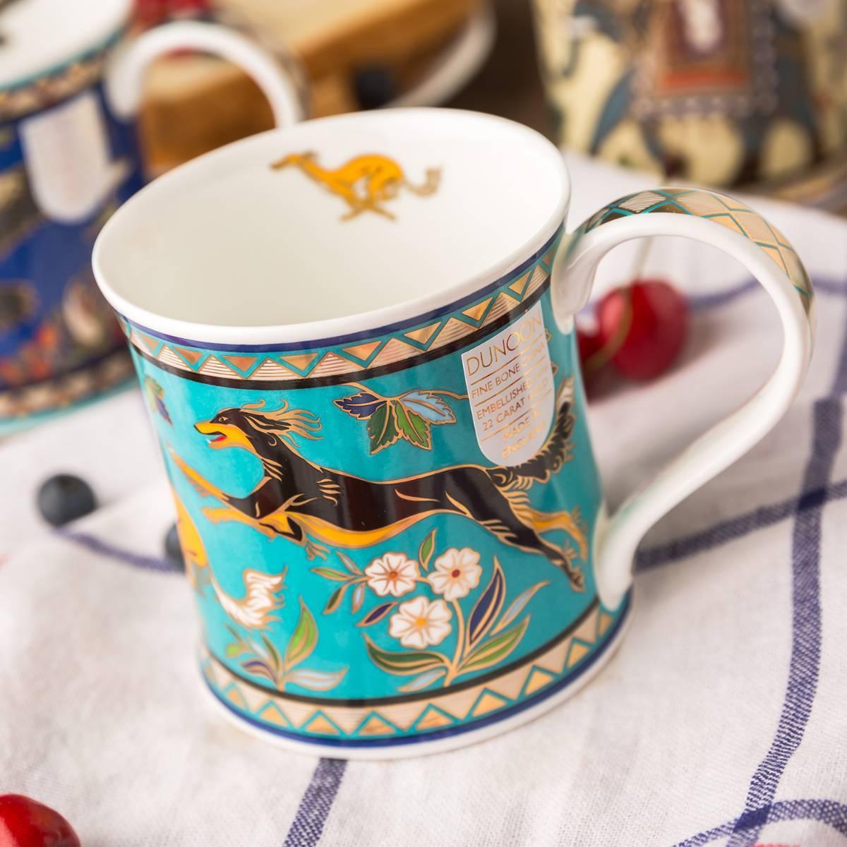 英国原产DUNOON丹侬Wessex型骨瓷茶杯水杯骨瓷马克杯
