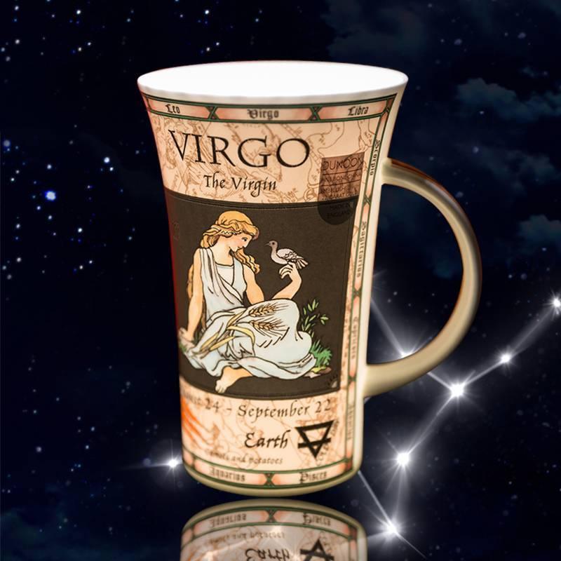 英国原产DUNOON丹侬处女座峡谷型骨瓷茶杯水杯骨瓷马克杯星座系列