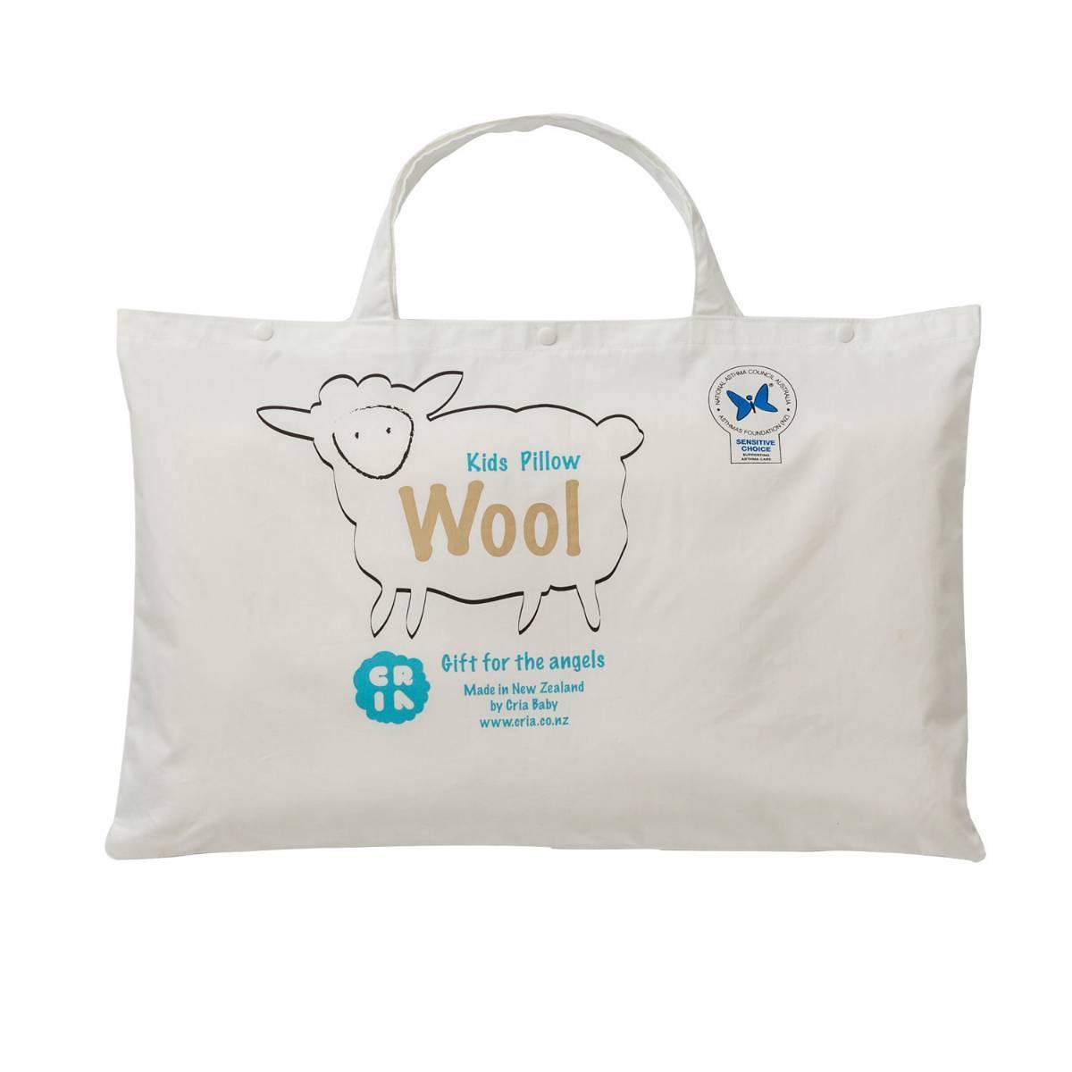 新西兰原产CRIA 纯手工透气儿童羊毛枕