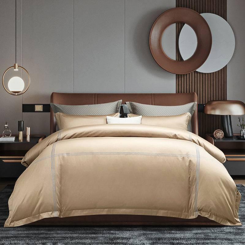 100支全棉四件套床单被套纯棉床上4件套波特曼利兹欧式奢华床上用品