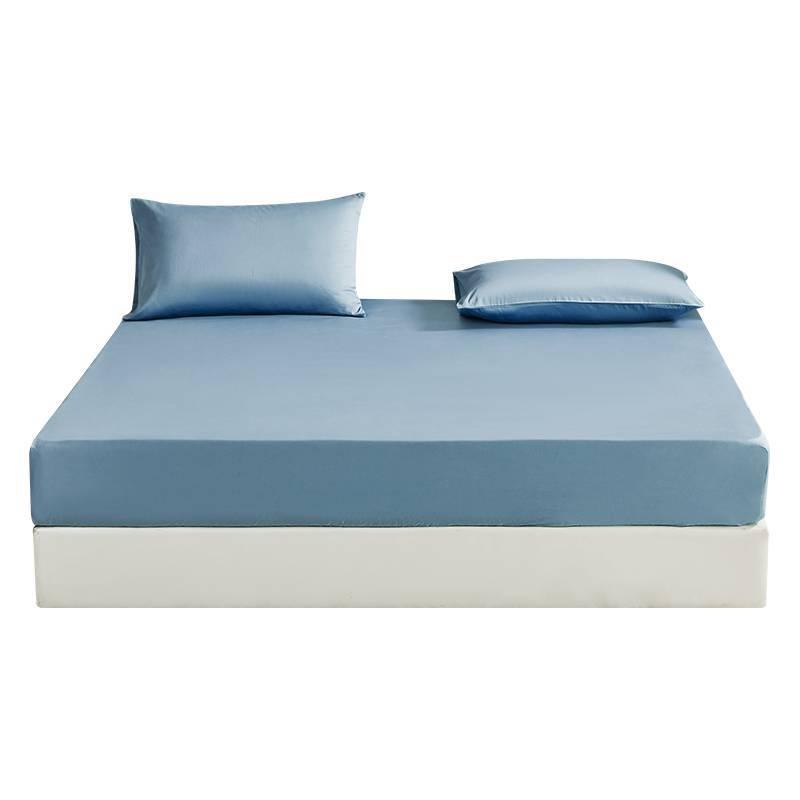 床笠纯棉单件床笠款全棉床单悦享时光床罩纯色简约1.2米床笠床