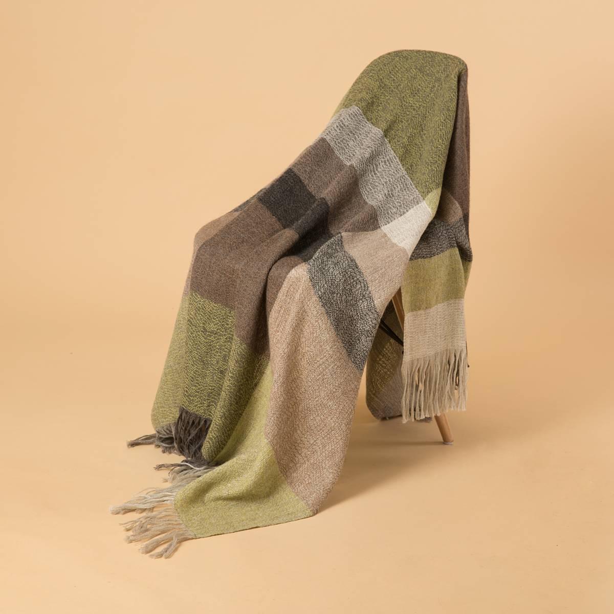 新西兰Stansborough指环王系列灰羊毛针织披肩盖毯