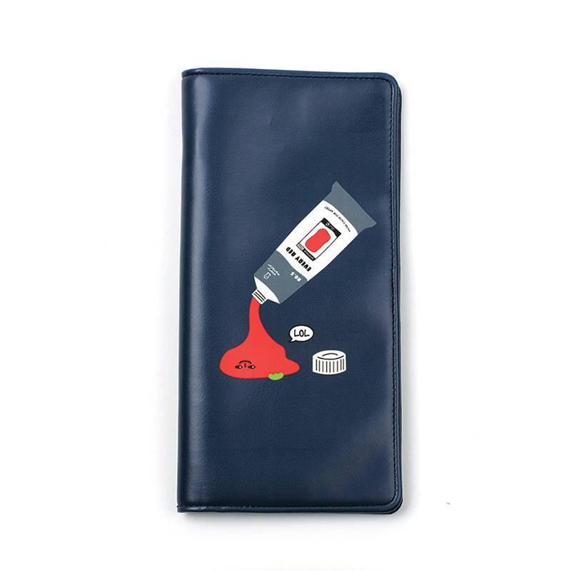 韩国原产LUCALAB长方形卡通护照夹收纳夹皮夹