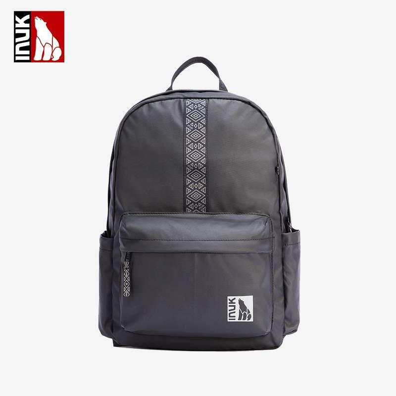 Inuk双肩包 2021年新款纯色休闲包包大容量亮片防水轻便男士背包