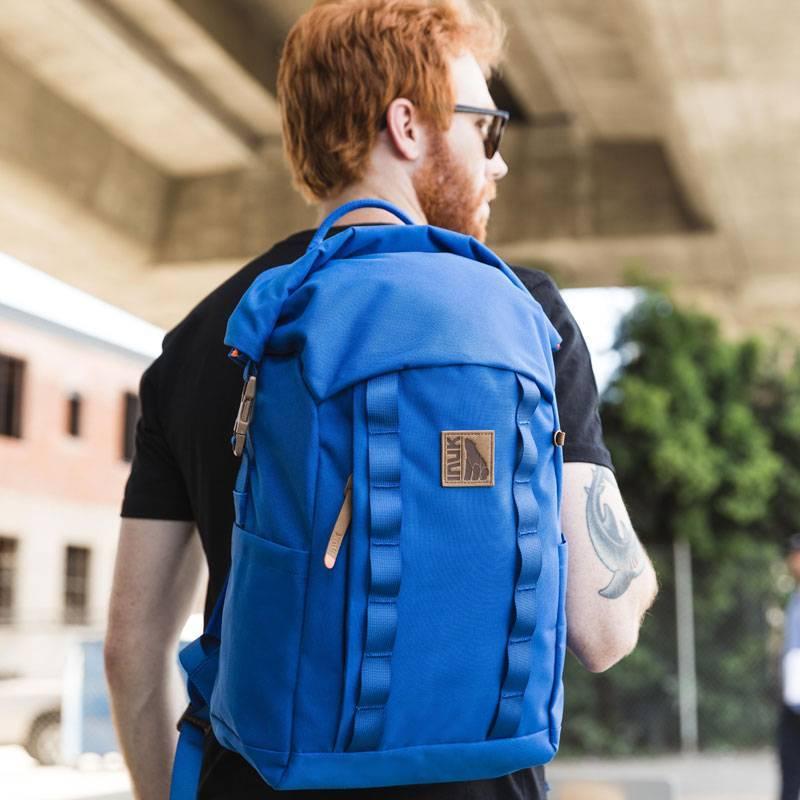 INUK潮牌新款卷口大容量双肩包男女背包户外登山包学生书包电脑包