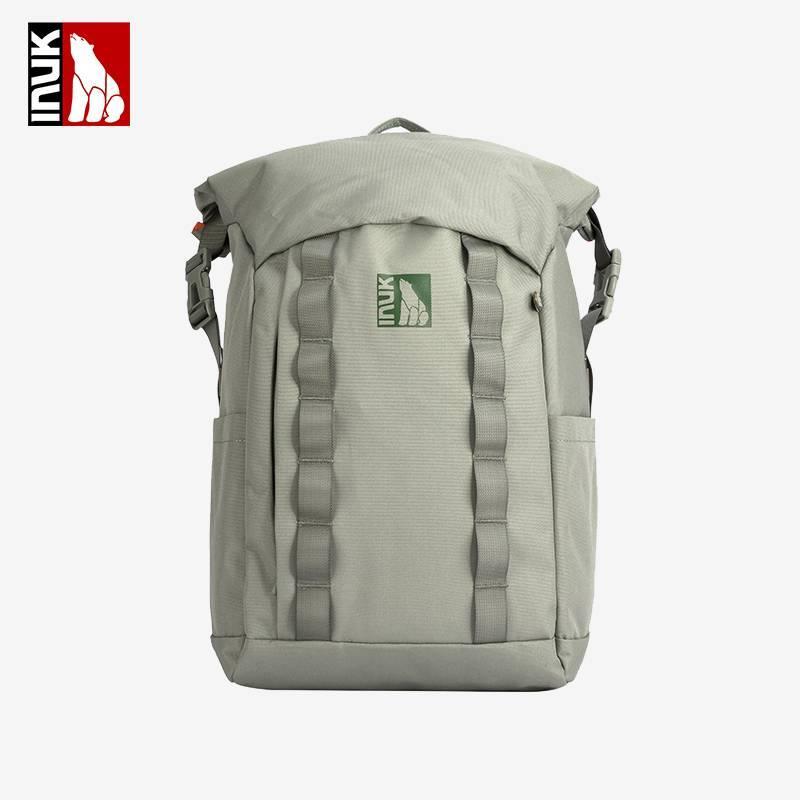 Inuk2021年新款Yoho卷口双肩包男女士环保防水背包旅行大容量包包